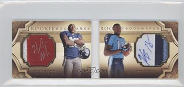 2009 Upper Deck Exquisite Collection Rookie Bookmarks #BM-NB - Kenny Britt, Hakeem Nicks /99