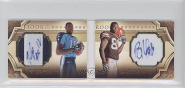 2009 Upper Deck Exquisite Collection Rookie Bookmarks #BM-RB - Kenny Britt, Brian Robiskie /99