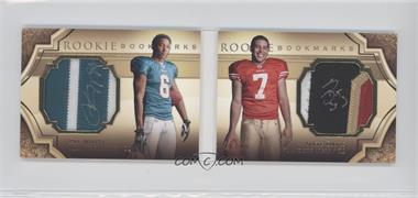 2009 Upper Deck Exquisite Collection Rookie Bookmarks #BM-WD - Nate Davis, Pat White /99