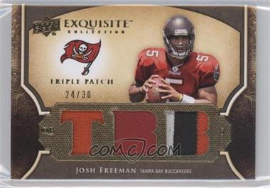 2009 Upper Deck Exquisite Collection Single Player Triple Patch #3P-FR - Josh Freeman /30