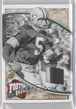2009 Upper Deck Football Heroes - [Base] - Gold Patch [Memorabilia] #201 - Paul Hornung /3