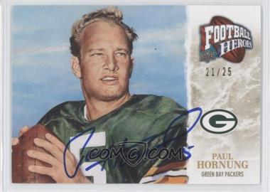 2009 Upper Deck Football Heroes Gold Autographs [Autographed] #421 - Paul Hornung /25