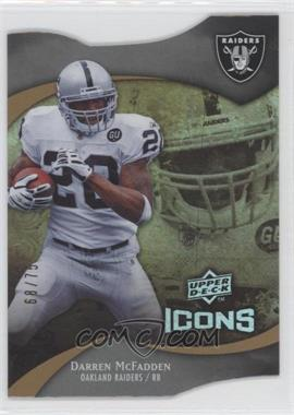 2009 Upper Deck Icons Die-Cut #67 - Darren McFadden /75