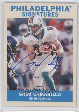 2009 Upper Deck Philadelphia - Signatures #PS-GC - Greg Camarillo