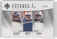 Knowshon Moreno, Donald Brown, Chris Wells, Antonio Bryant /99