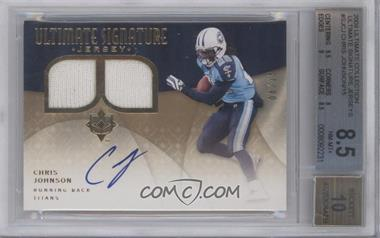 2009 Upper Deck Ultimate Collection Ultimate Signature Jerseys [Autographed] #SJ-CJ - Chris Johnson /15 [BGS 8.5]