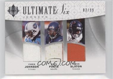 2009 Upper Deck Ultimate Collection Ultimate Six Jerseys #6J-8 - Matt Forte, Steve Slaton, Felix Jones /99