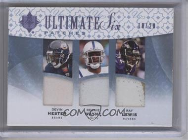 2009 Upper Deck Ultimate Collection Ultimate Six Patches #6J-23 - Ray Lewis, Clinton Portis, Ed Reed /20