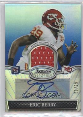 2010 Bowman Sterling - Autograph Relics - Blue Refractor #BSAR-EB - Eric Berry /99