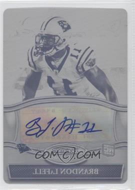 2010 Bowman Sterling - Autographs - Printing Plate Black #BSA-BL - Brandon LaFell /1