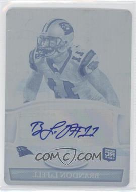 2010 Bowman Sterling Autographs Printing Plate Cyan #BSA-BL - Brandon LaFell /1