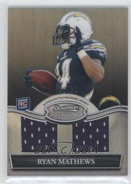 2010 Bowman Sterling Dual Relic Black Refractor #BSRDR-RM - Ryan Mathews /50