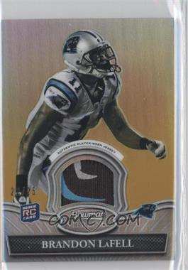 2010 Bowman Sterling Relics Gold Refractor #BSR-BL - Brandon LaFell /25