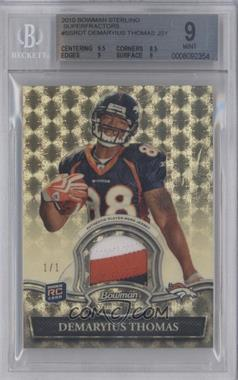 2010 Bowman Sterling Relics Superfractor #BSR-DT - Demaryius Thomas /1 [BGS 9]
