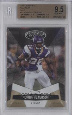 2010 Certified - [Base] - Platinum Gold #82 - Adrian Peterson /10 [BGS9.5]