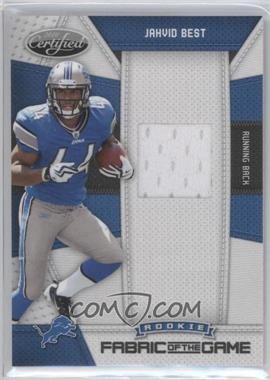 2010 Certified - Rookie Fabric of the Game #22 - Jahvid Best /250