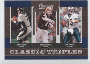 2010 Classics - Classic Triples #1 - Bernie Kosar, Dan Marino, John Elway