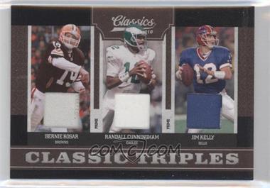 2010 Classics Classic Triples Jerseys Prime [Memorabilia] #8 - Jim Kelly, Randall Cunningham, Bernie Kosar /25