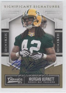2010 Classics Significant Signatures Gold [Autographed] #173 - Morgan Burnett /499
