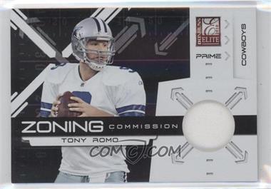2010 Donruss Elite - Zoning Commission - Black Jersey [Memorabilia] #18 - Tony Romo /50