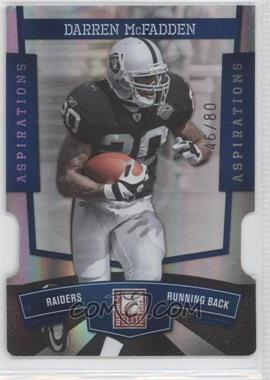 2010 Donruss Elite Aspirations Die-Cut #71 - Darren McFadden /80