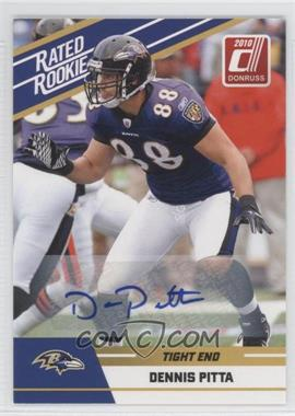 2010 Donruss Rated Rookie Box Set [Base] Autographs #28 - Dennis Pitta