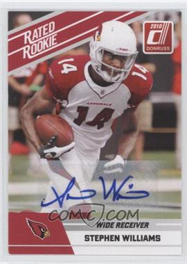 2010 Donruss Rated Rookie Box Set [Base] Autographs #92 - Stephen Williams
