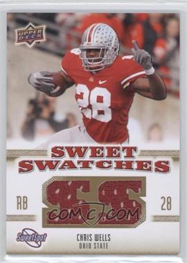 2010 NCAA Sweet Spot - Sweet Swatches #SSW-14 - Chris Wells