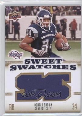 2010 NCAA Sweet Spot - Sweet Swatches #SSW-21 - Donald Brown