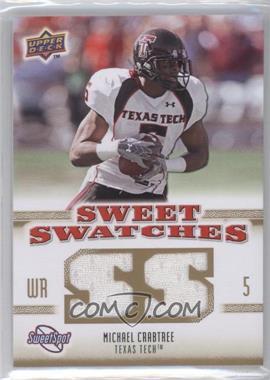 2010 NCAA Sweet Spot - Sweet Swatches #SSW-47 - Michael Crabtree