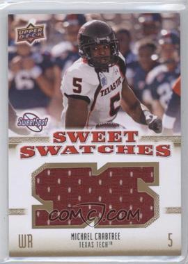 2010 NCAA Sweet Spot - Sweet Swatches #SSW-61 - Michael Crabtree