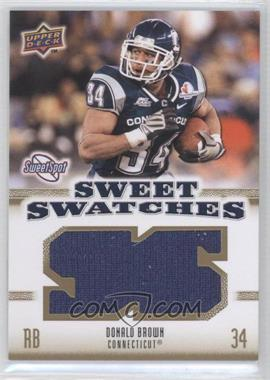 2010 NCAA Sweet Spot Sweet Swatches #SSW-20 - Donald Brown