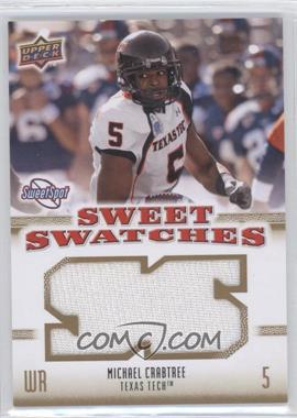 2010 NCAA Sweet Spot Sweet Swatches #SSW-61 - Michael Crabtree