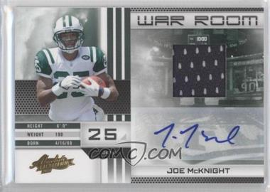 2010 Panini Absolute Memorabilia - War Room - Materials Signatures [Autographed] [Memorabilia] #6 - Joe McKnight /25