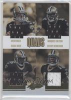 Drew Brees, Reggie Bush, Marques Colston, Devery Henderson /50