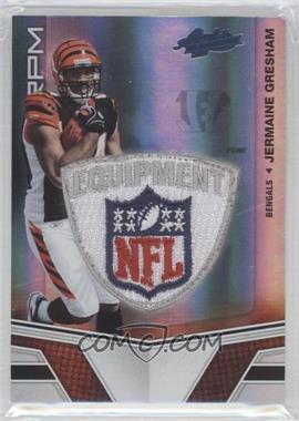 2010 Panini Absolute Memorabilia Rookie Premiere Materials Spectrum NFL Shield Patch Prime [Memorabilia] #226 - Jermaine Gresham /5