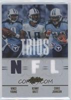 Chris Johnson, Kenny Britt, Vince Young /75