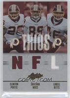 Clinton Portis, Ladell Betts, Santana Moss /75