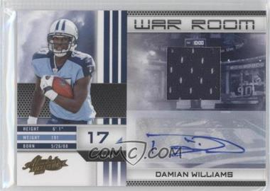 2010 Panini Absolute Memorabilia War Room Materials Signatures [Autographed] [Memorabilia] #11 - Damian Williams /25