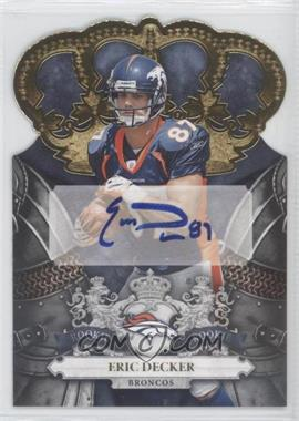 2010 Panini Crown Royale - [Base] - Gold Signatures [Autographed] #222 - Eric Decker /25
