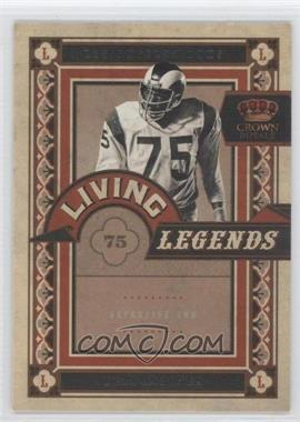 2010 Panini Crown Royale - Living Legends #7 - Deacon Jones