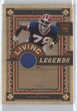 2010 Panini Crown Royale Living Legends Materials Prime [Memorabilia] #2 - Bruce Smith /50