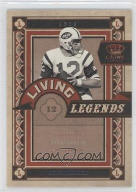 2010 Panini Crown Royale Living Legends #9 - Joe Namath