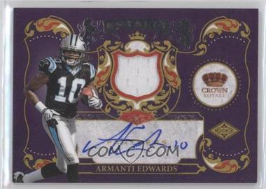 2010 Panini Crown Royale Rookie Royalty Materials Signatures [Autographed] [Memorabilia] #1 - Armanti Edwards /50