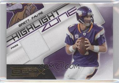 2010 Panini Epix - Highlight Zone - Materials Prime [Memorabilia] #15 - Brett Favre /10