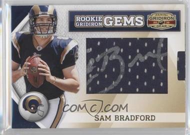 2010 Panini Gridiron Gear - [Base] #251 - Rookie Gridiron Gems Jumbo Signatures - Sam Bradford /244