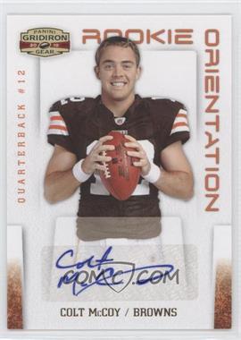 2010 Panini Gridiron Gear - Rookie Orientation - Signatures [Autographed] #9 - Colt McCoy /10