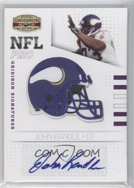 2010 Panini Gridiron Gear NFL Pro Gridiron Signatures #4 - John Randle /25