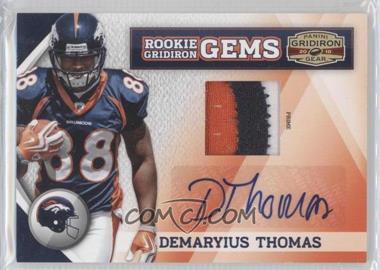 2010 Panini Gridiron Gear Rookie Gridiron Gems Materials Prime Signatures [Autographed] [Memorabilia] #259 - Demaryius Thomas /10