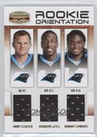Brandon LaFell, Jimmy Clausen, Armanti Edwards /250